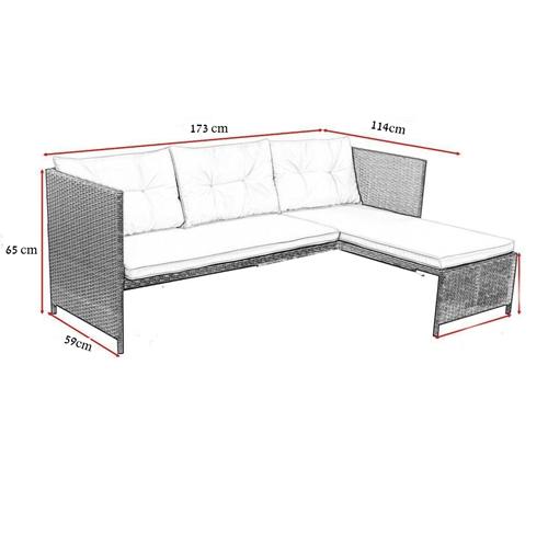 סט ריהוט גינה כולל ספת שזלונג ושולחן מבית Homax