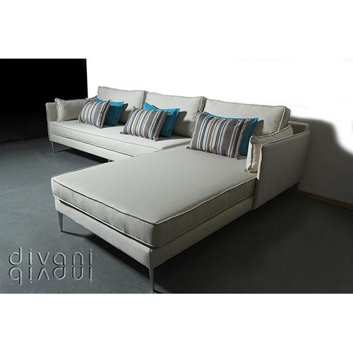 ספה מעוצבת פינתית בהשראה אירופאית יפה ונקייה