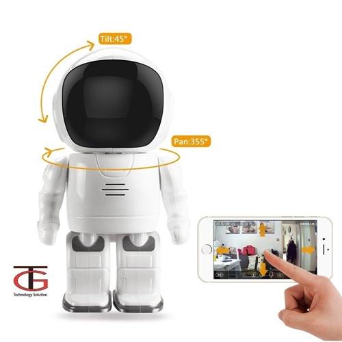 מצלמת אבטחה IP נסתרת ברובוט למעקב ושליטה מרחוק
