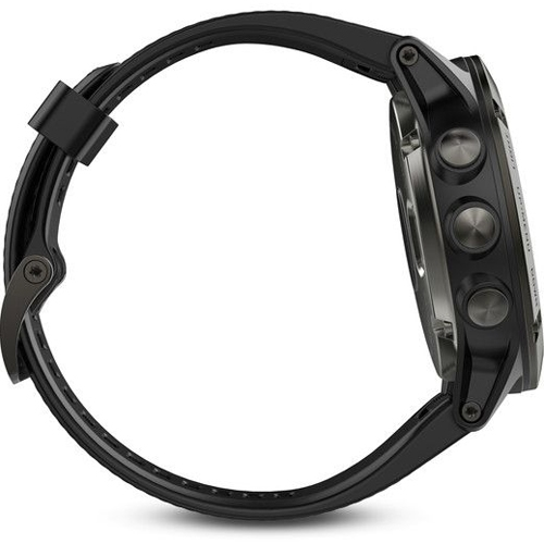 Garmin Fenix 5X מסגרת Sapphire עם רצועה שחורה
