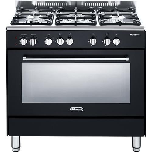 """תנור משולב כיריים גז רחב 90 ס""""מ מפואר 8 תכניות"""