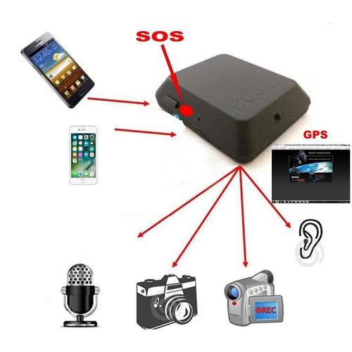 מכשיר האזנה זעיר עם לחצן מצוקה