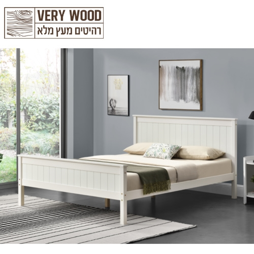 מיטה זוגית בעיצוב קלאסי לינור 160 מבית HOME DECOR