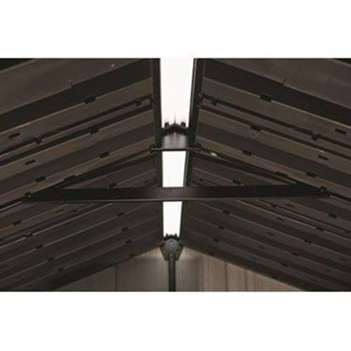 מחסן גינה גדול במיוחד בעיצוב דמוי עץ אוקלנד כתר