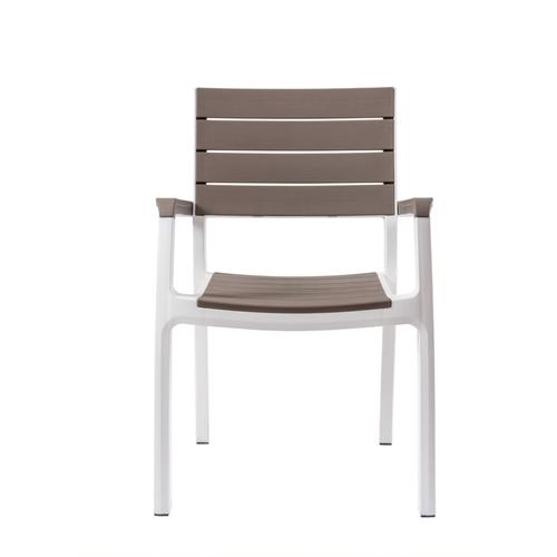 פינת אוכל לגינה כולל 6 כיסאות עם מסעדי ידיים KETER