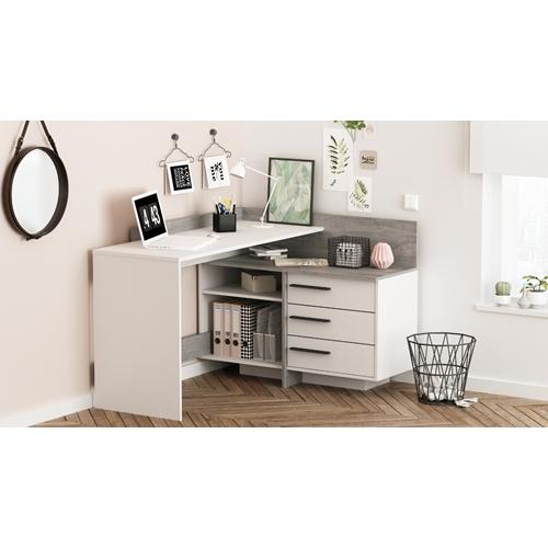 עמדת עבודה פינתית עם שולחן כתיבה מגירות HOME DECOR