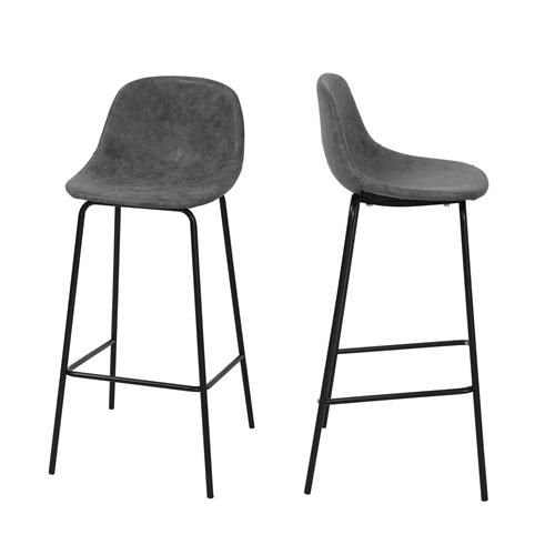 כיסא בר מעוצב עם רגלי מתכת דגם  96E