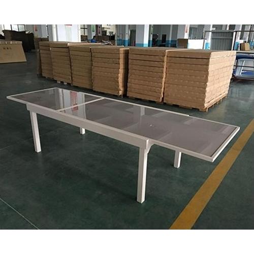 שולחן אוכל נפתח + 6 כסאות עשוי אלומיניום