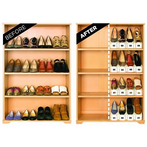 דאבל – מסדר ומכפיל מקום לנעליים – מארז 6 יחידות