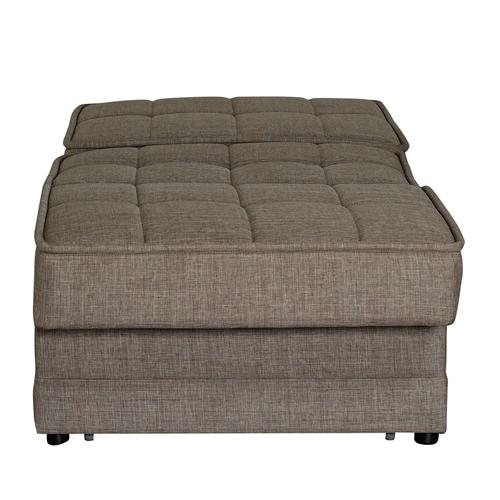 כורסא נפתחת למיטה עם ארגז מצעים