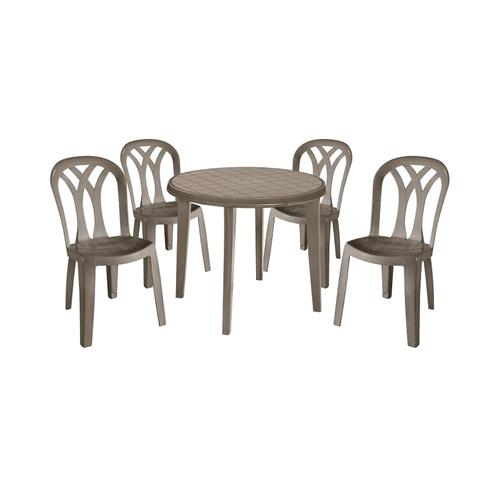 סט שולחן ליסה וארבעה כסאות פטיו KETER