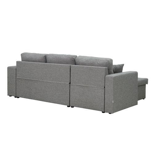 מערכת ישיבה פינתית נפתחת למיטה עם ארגז מצעים