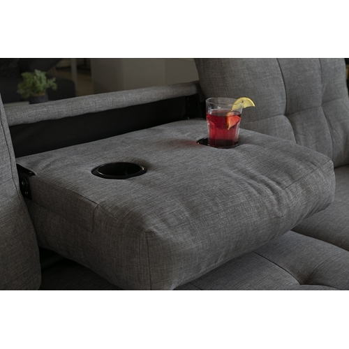 מערכת ישיבה פינתית דגם קאפרי עם שולחן ומחזיק כוסות