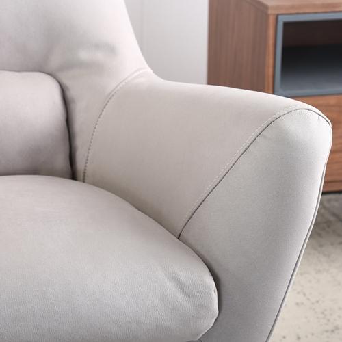 כורסא מעוצבת מרופדת בד רחיץ  HOME DECOR דגם רובי