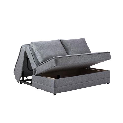 ספת אירוח דו מושבית נפתחת למיטה עם ארגז דגם חן