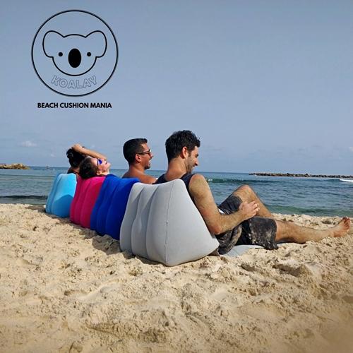 מזרן עם כרית מתנפחת לים במגוון צבעים לבחירה