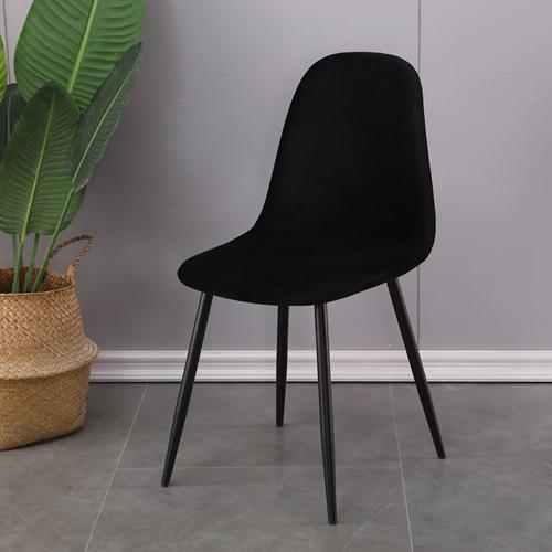 סט 4 כסאות אוכל מרופדים בד קטיפתי HOME DECOR