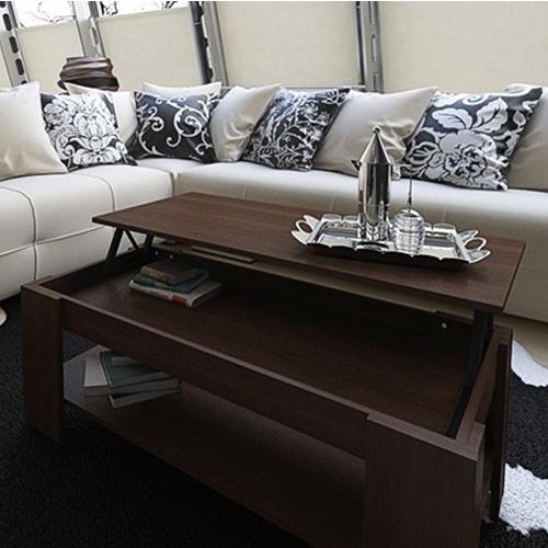 שולחן סלוני יפייפה הכולל חלל אחסון פנימי גדול