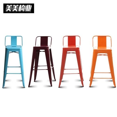 כסא בר מעוצב ממתכת במגוון צבעים