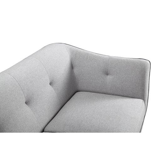 ספה תלת מושבית מעוצבת ריפוד בד משובח FREEMAN