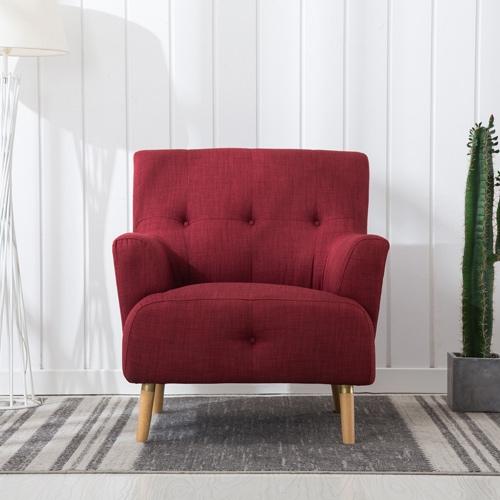 כורסא מעוצבת מבד בעיצוב רטרו HOME DECOR