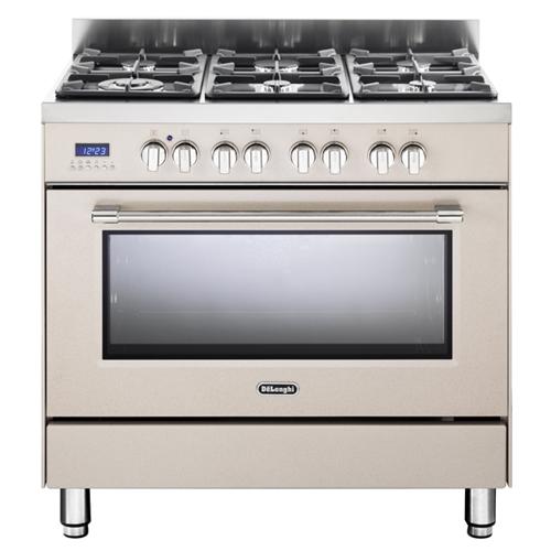 """תנור משולב כיריים מפואר 90 ס""""מ 6 להבות Delonghi"""