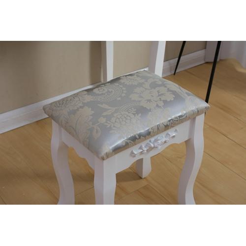 שידת איפור מעוצבת כוללת כיסא תואם ומראה דגם 12