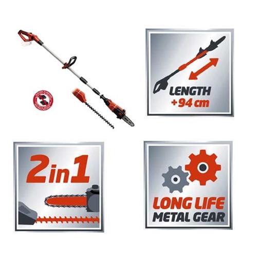 2 ב-1 גוף גוזם גדר חי + מסור שרשרת נטען מקצועי