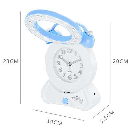 שעון מעורר שולחני משולב כמנורת לילה / קריאה