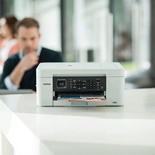 מדפסת צבעונית משולבת MFCJ497DW White בית BROTHER