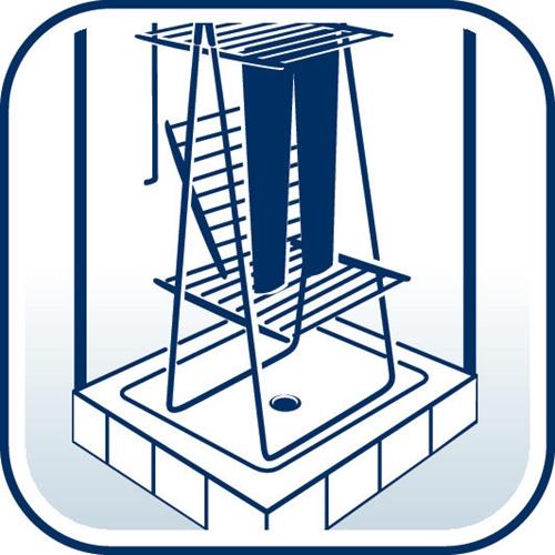 מגדל לייבוש כביסה מותאם לחסכון במקום מבית LEIFHEIT