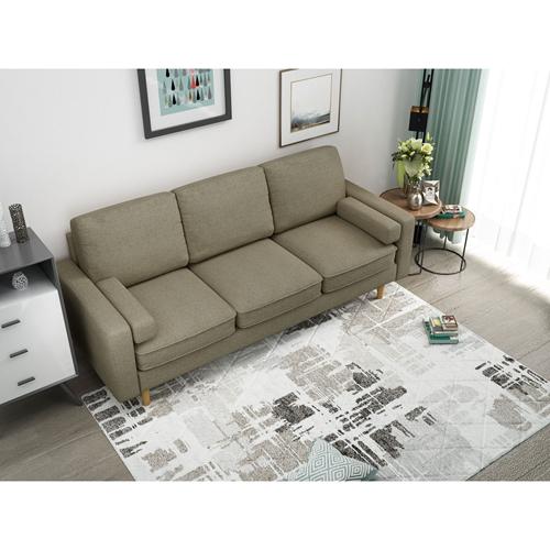 ספה תלת מושבית מעוצבת מרופדת בד מבית Bradex