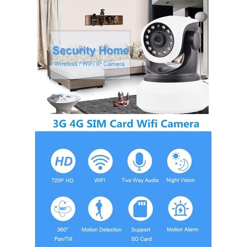 מצלמת אבטחה IP אלחוטית סלולרית 4G 3G ממונעת