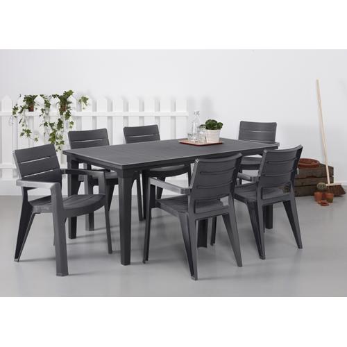 סט שולחן פוטורה עם 6 כסאות איביזה כתר