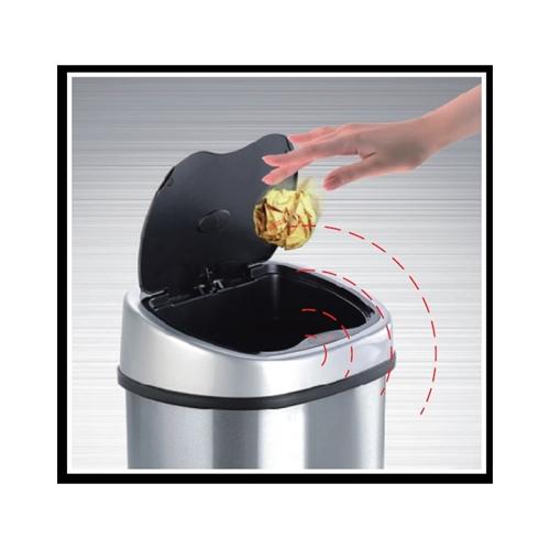 פח אשפה אוטומטי 40 ליטר נירוסטה אנטי בקטריאלי