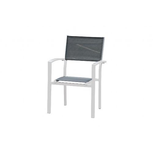 סט שולחן אלומיניום 90*90 נפתח ל-180 לבן