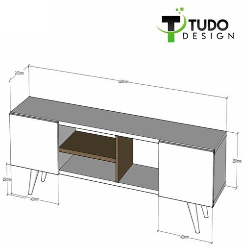 """מזנון מעוצב ברוחב 160 ס""""מ Tudo Design דגם Adel"""
