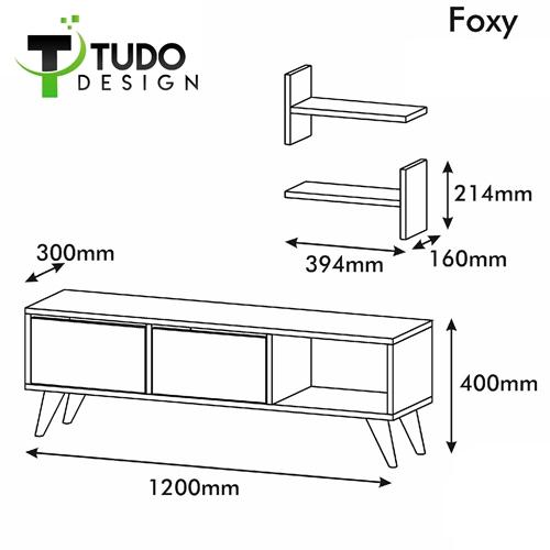 מזנון מעוצב עם מדפים תואמים Tudo Design דגם FOXY