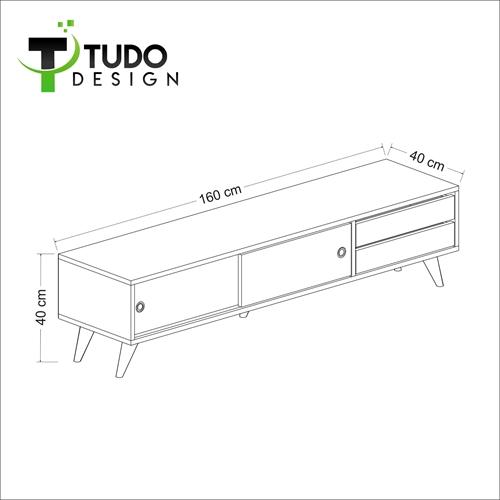 """מזנון מעוצב ברוחב 160 ס""""מ Tudo Design דגם Amor"""