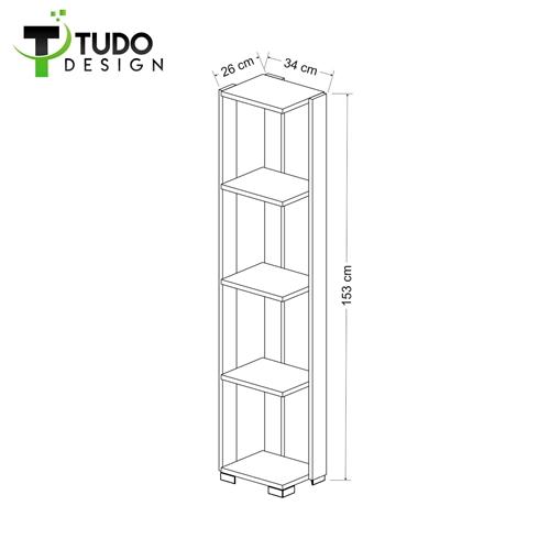 כוננית ספריה 4 תאים Tudo Design דגם Booki