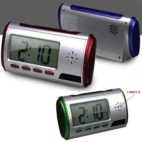 שעון מעורר מצלמת ריגול מקליט עם חיישן תנועה