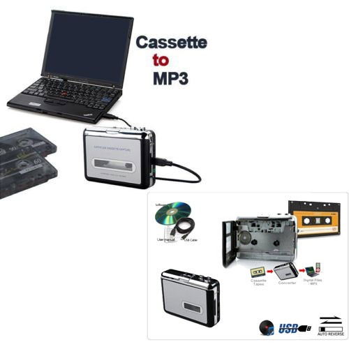 טייפ קלטות בחיבור USB להמרת קלטות אודיו  ל- MP3