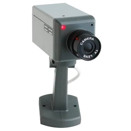 מצלמת אבטחה דמה בעלת חיישן תנועה להרתעה מקסימלית