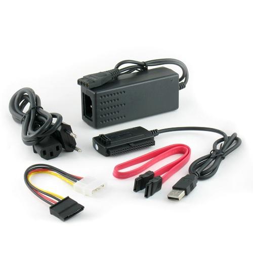 מתאם USB 2.0 ל- IDE + SATA