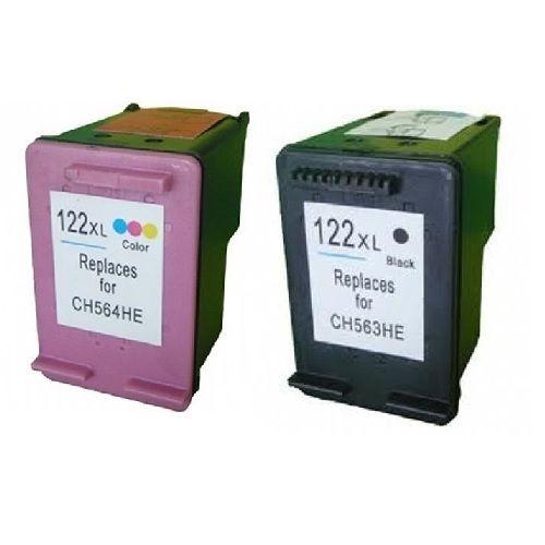 סט דיו תואם חליפי HP דגם 122XL שחור וצבעוני