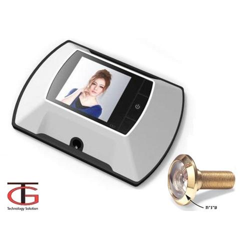 מצלמת עינית צבע לדלת משולבת מסך LCD לבטחון האישי