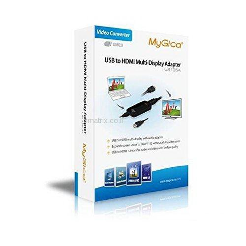 מתאם מ-USB ל-HDMI חיבור מסך איכות FullHD דרך USB
