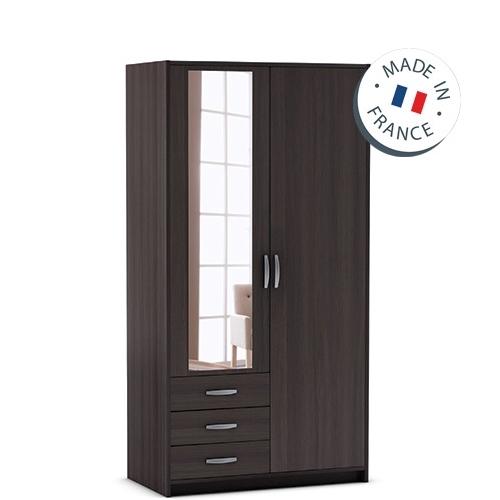 ארון 2 דלתות כולל מראה ומגירות תוצרת צרפת