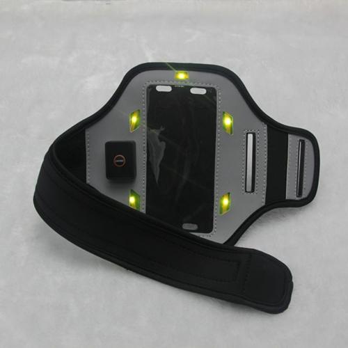 נרתיק זרוע לטלפון הנייד עם אורות LED