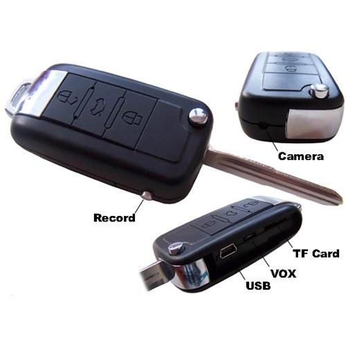 מצלמת ריגול מוסלקת במפתח רכב כולל מתנה לרוכשים